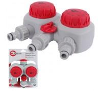 GE-2012 Таймер для подачі води з 2- канальним розподілом, з сіточним фільтром INTERTOOL