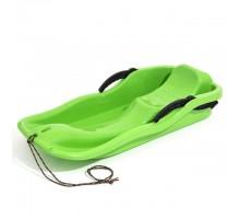Санчата пластикові з гальмами RACE зелені